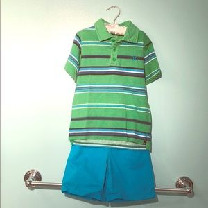 Boys' Hurley Polo Shirt and Short Set-size 5